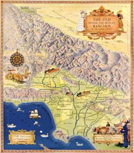 Map of Old Ranchos of California