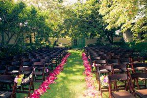 Courtyard For Sarah and Nick Wedding