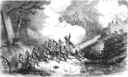 The Great Swamp Battle at King Phillip's fort.