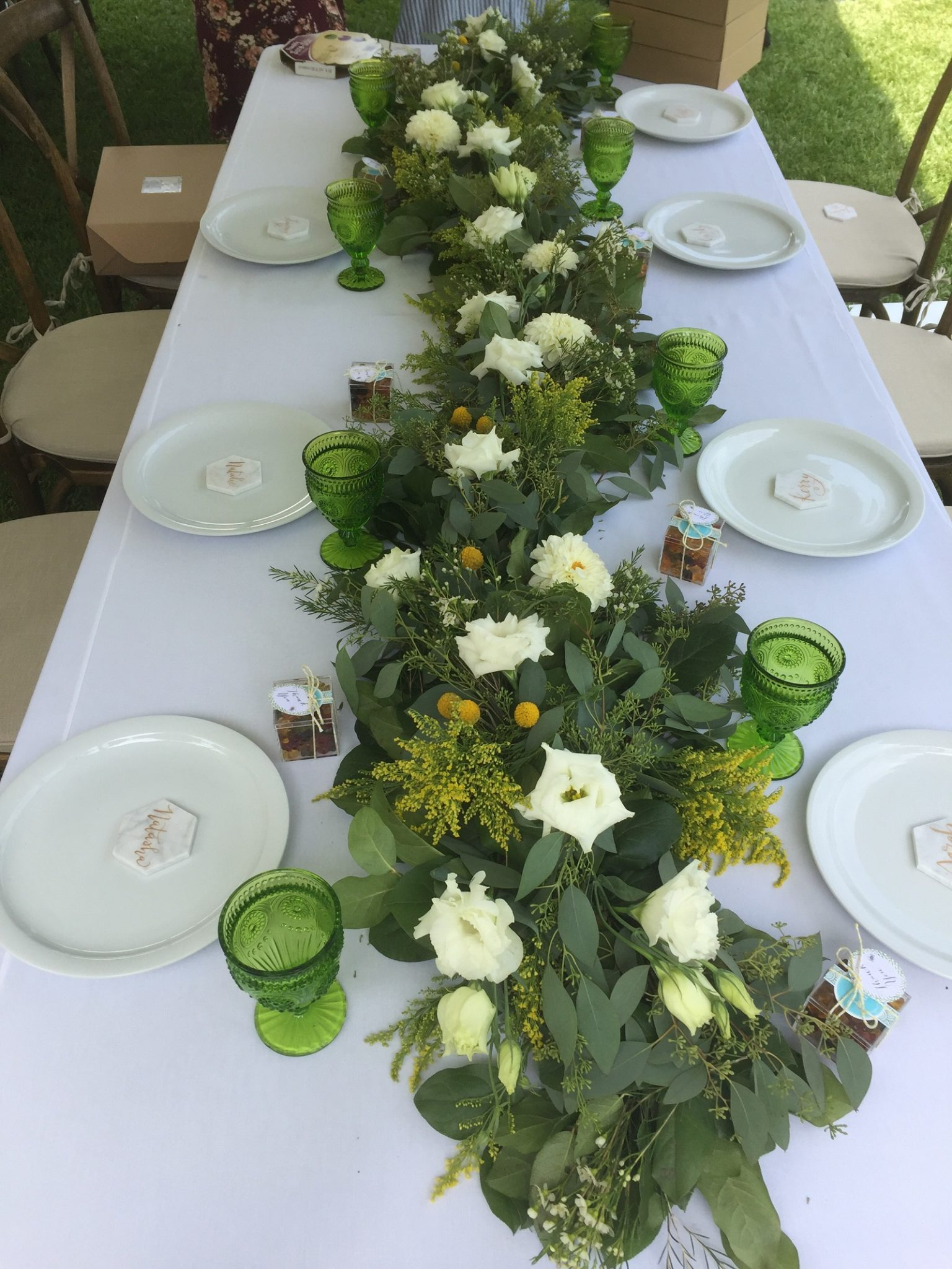 table setting baby shower