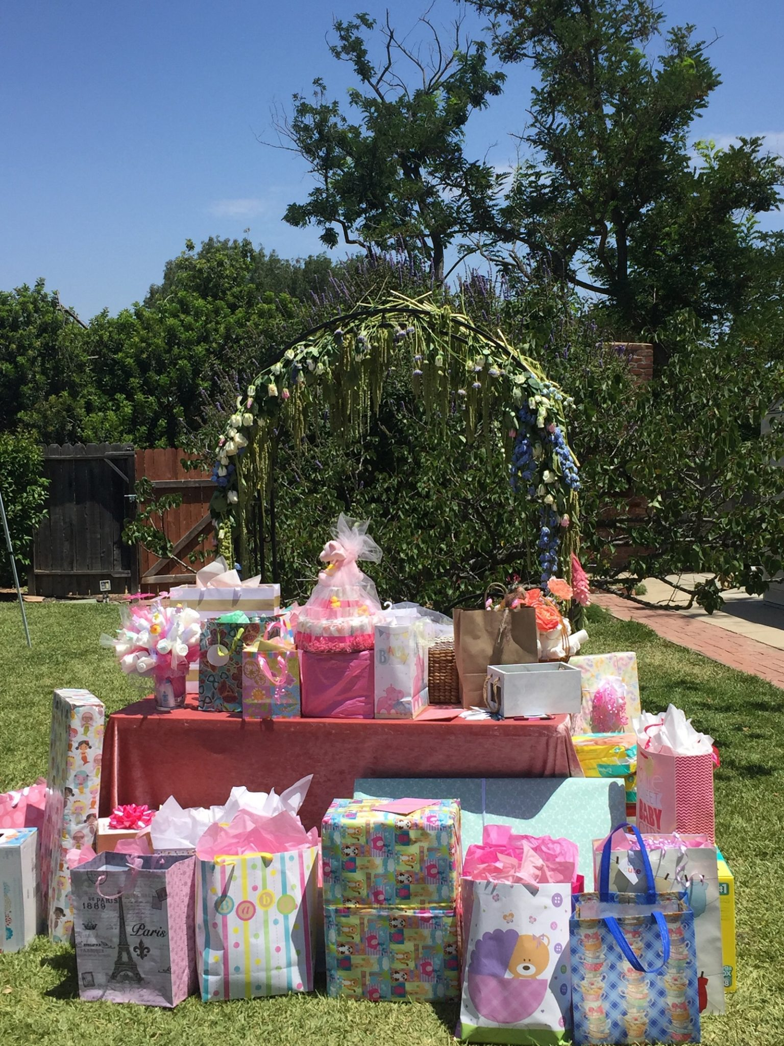 Gifts In Private Garden Baby Shower Rancho Los Cerritos Historic Site