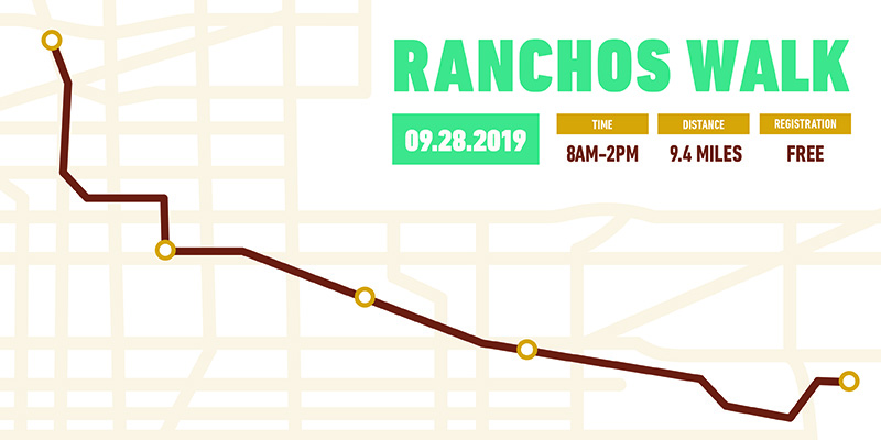 The 2nd Annual Ranchos Walk is Saturday September 28, 2019.