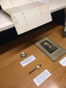 Artifacts from the 1930s Bixby remodel special exhibit in the Rancho Los Cerritos library, on display from October through early December 2019.
