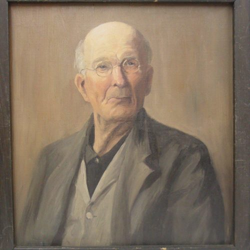 Painting of an Elderly man by Fanny Bixby (Spencer)