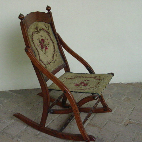 19th Century Collapsible Rocking Chair