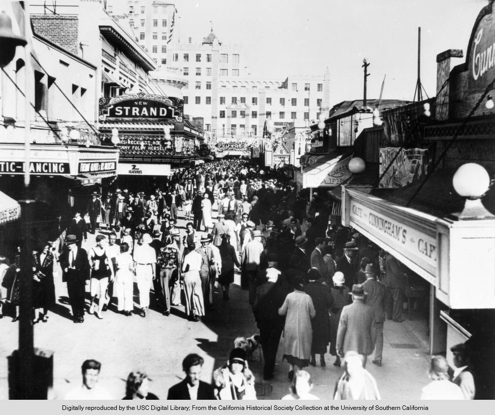 View of a Crowd in the Long Beach Pike Area c.1932